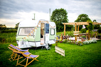 Bridge House Barn caravan booth and party tents